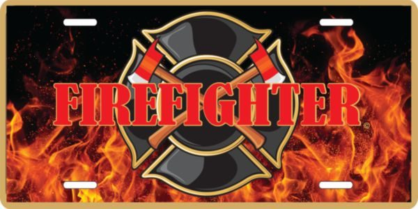 Firefighters Lic Plate