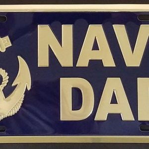 Navy Dad Plate